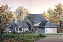 Dream House Plan - Modern Exterior - Front Elevation Plan #57-672
