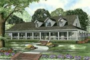Southern Style House Plan - 3 Beds 2.5 Baths 2851 Sq/Ft Plan #17-2190 Exterior - Front Elevation