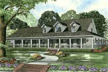 House Plan Design - Southern Exterior - Front Elevation Plan #17-2190