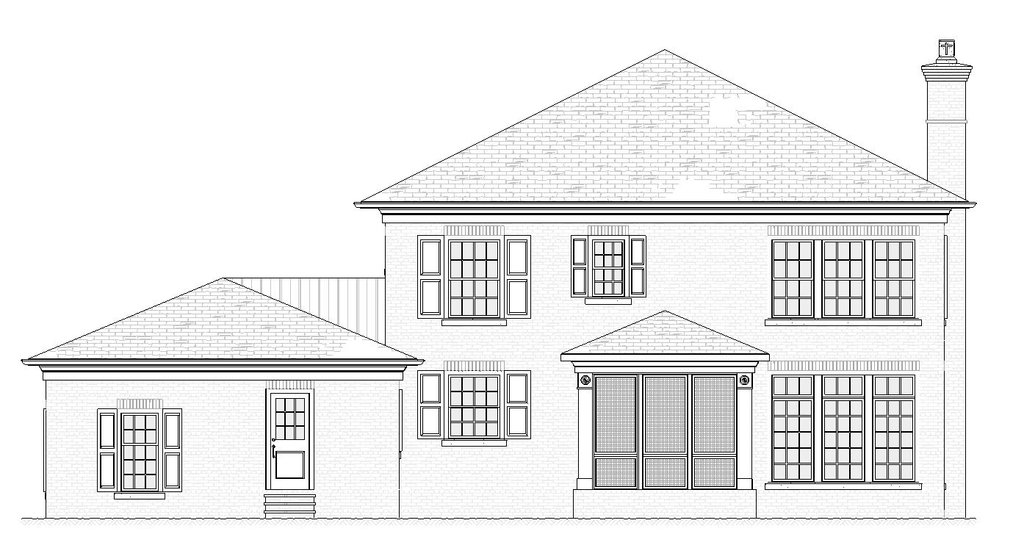 traditional style house plan  ft
