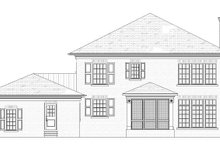 House Plan Design - Traditional Exterior - Rear Elevation Plan #901-142