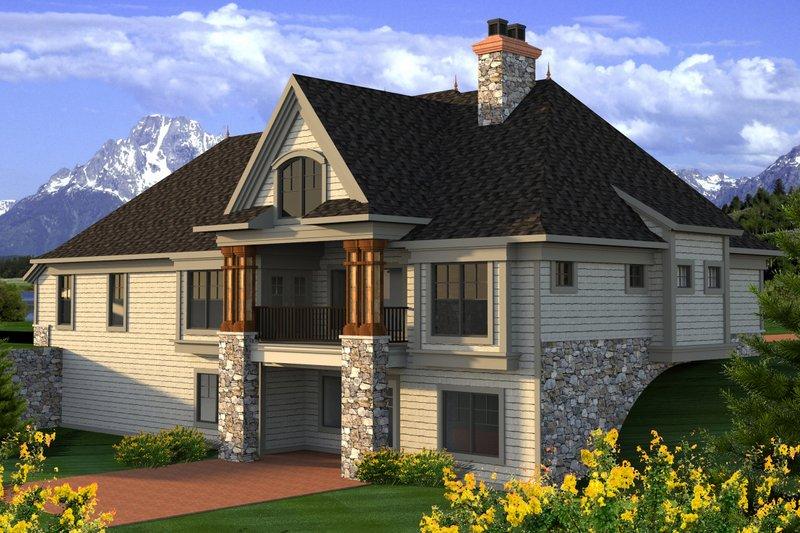 Cottage Exterior - Rear Elevation Plan #70-1180 - Houseplans.com