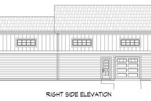 Cottage Exterior - Rear Elevation Plan #932-118