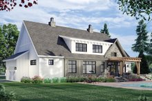 House Blueprint - Farmhouse Exterior - Rear Elevation Plan #51-1163