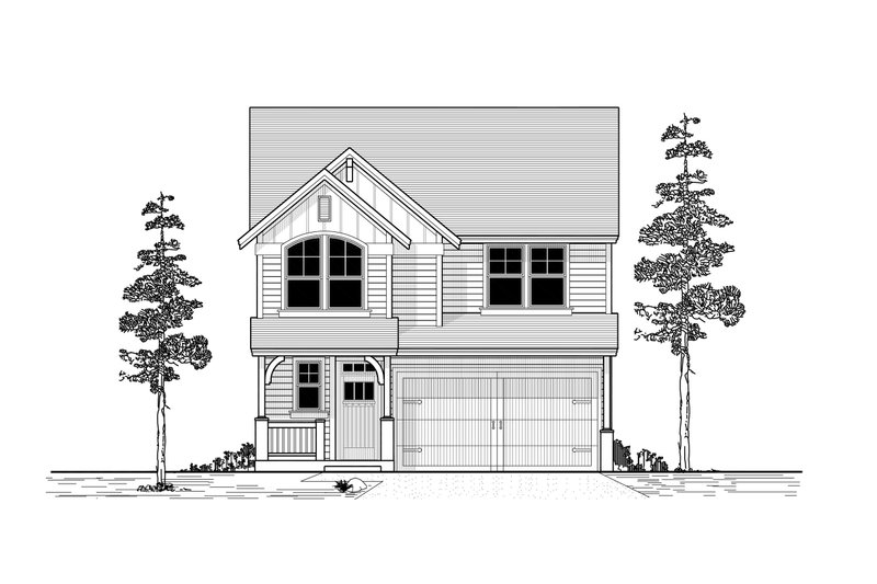 Craftsman Style House Plan - 5 Beds 2.5 Baths 2136 Sq/Ft Plan #53-477 Exterior - Front Elevation