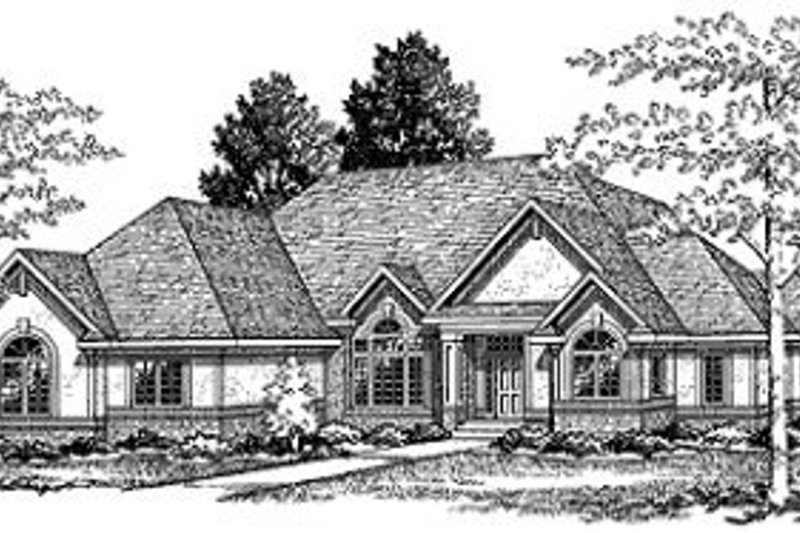 Traditional Exterior - Front Elevation Plan #70-390