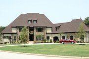 European Style House Plan - 4 Beds 5.5 Baths 5100 Sq/Ft Plan #17-2437 Exterior - Front Elevation