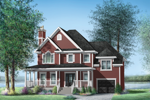 Country Exterior - Front Elevation Plan #25-4420