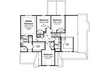 Traditional Floor Plan - Upper Floor Plan Plan #46-877