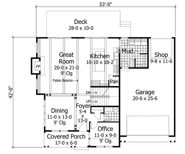 Traditional Floor Plan - Main Floor Plan Plan #51-529