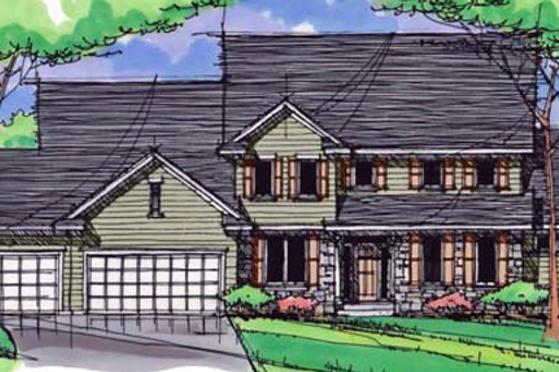 Craftsman Exterior - Front Elevation Plan #51-386 - Houseplans.com