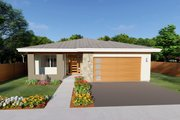 Contemporary Style House Plan - 3 Beds 2 Baths 1621 Sq/Ft Plan #126-212
