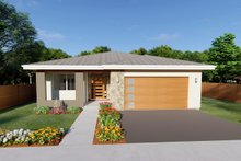 Home Plan - Contemporary Exterior - Front Elevation Plan #126-212