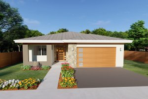 Contemporary Exterior - Front Elevation Plan #126-212