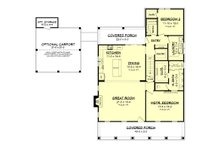 Farmhouse Floor Plan - Main Floor Plan Plan #430-198