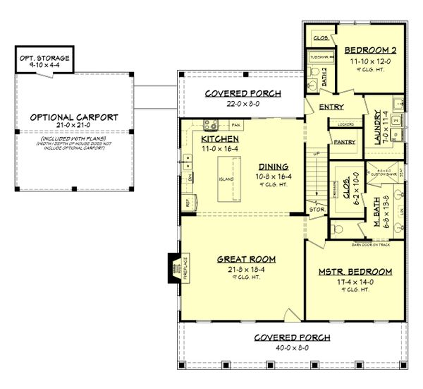 Home Plan - Farmhouse Floor Plan - Main Floor Plan #430-198
