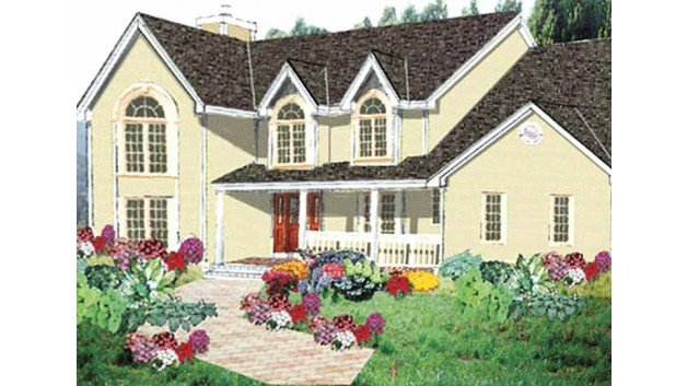 Country Exterior - Front Elevation Plan #3-224