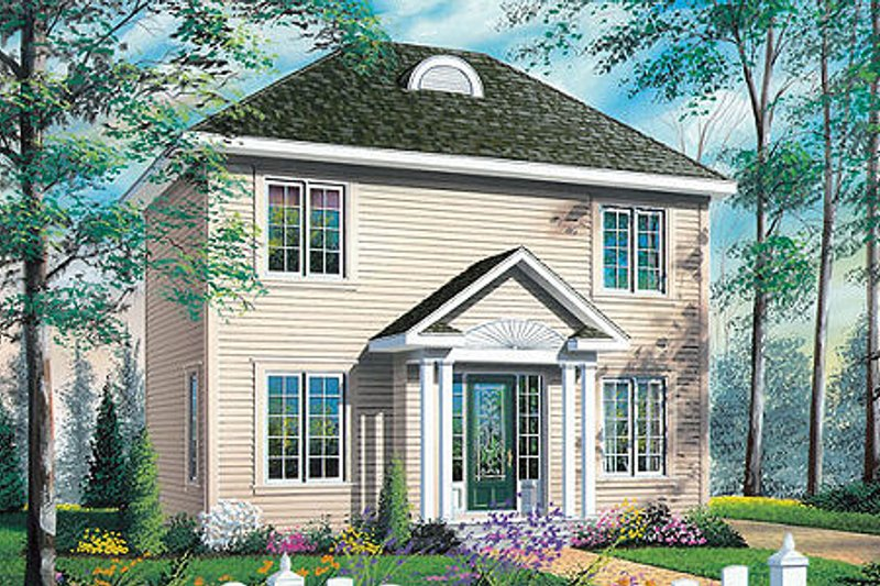 Architectural House Design - Colonial Exterior - Front Elevation Plan #23-629