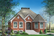 European Style House Plan - 2 Beds 1 Baths 1154 Sq/Ft Plan #25-4644 Exterior - Front Elevation