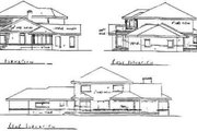 Traditional Style House Plan - 5 Beds 3.5 Baths 3456 Sq/Ft Plan #60-145 Exterior - Rear Elevation