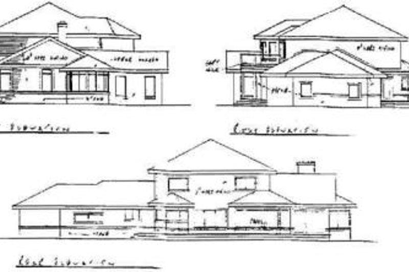 Traditional Exterior - Rear Elevation Plan #60-145 - Houseplans.com