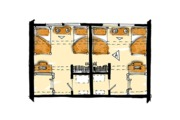 Log Style House Plan - 4 Beds 2 Baths 1280 Sq/Ft Plan #942-51 Floor Plan - Upper Floor Plan