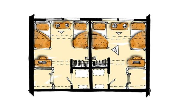 Log Floor Plan - Upper Floor Plan Plan #942-51