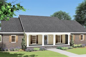 House Plan Design - Traditional Exterior - Front Elevation Plan #44-122