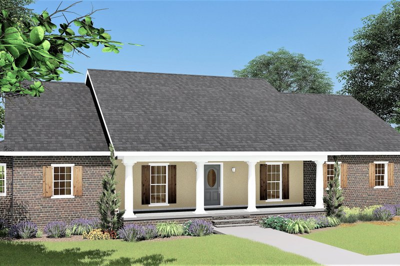 Traditional Exterior - Front Elevation Plan #44-122