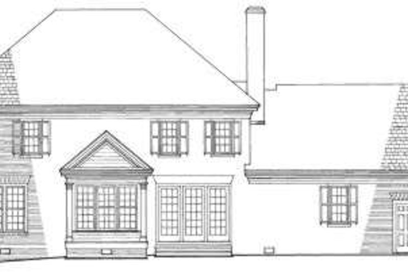 Colonial Exterior - Rear Elevation Plan #137-104 - Houseplans.com