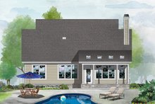 House Plan Design - Cottage Exterior - Rear Elevation Plan #929-1126