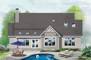Craftsman Style House Plan - 3 Beds 2 Baths 2134 Sq/Ft Plan #929-1112 Exterior - Rear Elevation