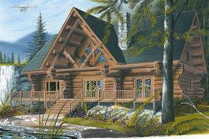 Log Exterior - Front Elevation Plan #23-752