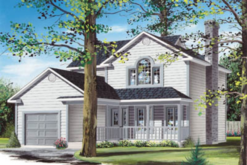 Exterior - Front Elevation Plan #23-259