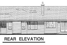 House Blueprint - Ranch Exterior - Rear Elevation Plan #18-193