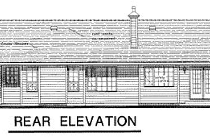 Ranch Exterior - Rear Elevation Plan #18-193 - Houseplans.com