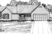 Country Style House Plan - 3 Beds 2 Baths 1207 Sq/Ft Plan #30-113 Exterior - Front Elevation