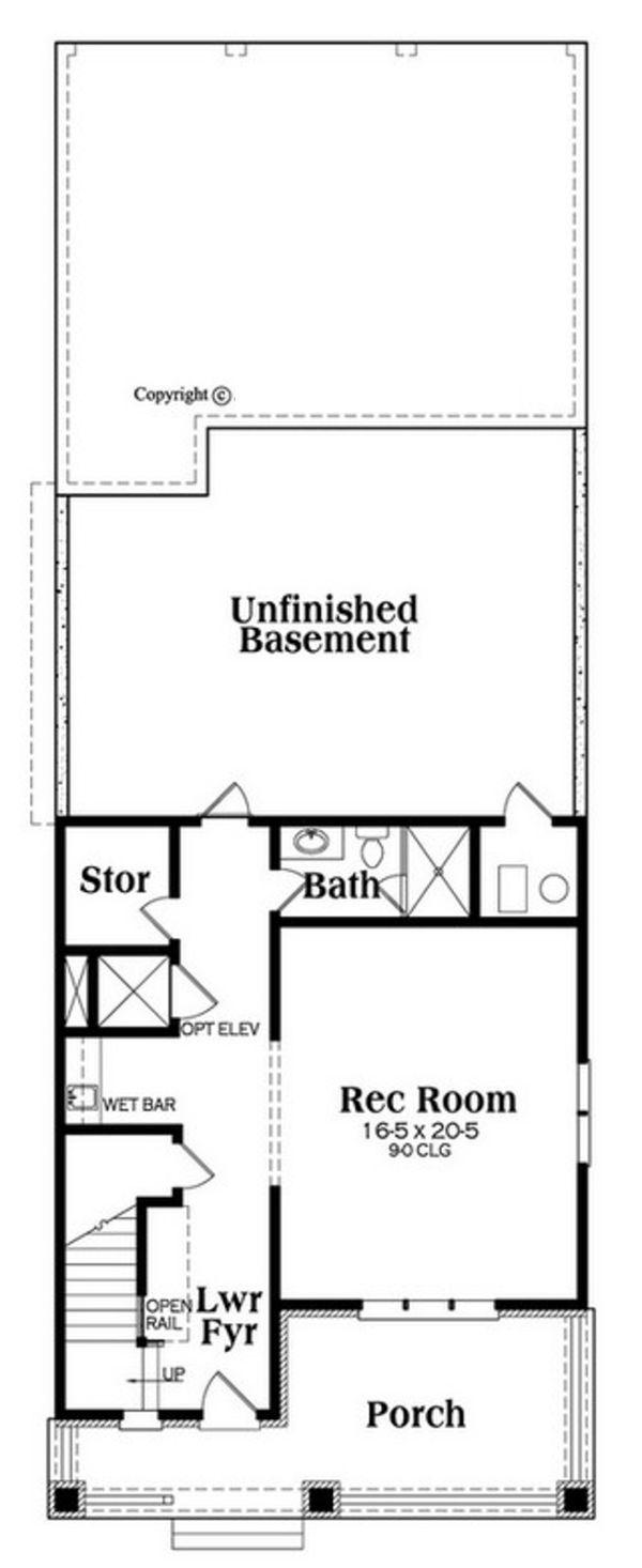 Craftsman Floor Plan - Lower Floor Plan Plan #419-302
