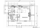 Log Style House Plan - 2 Beds 2 Baths 1427 Sq/Ft Plan #451-12 Floor Plan - Main Floor Plan