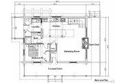 Log Style House Plan - 2 Beds 2 Baths 1427 Sq/Ft Plan #451-12 Floor Plan - Main Floor Plan