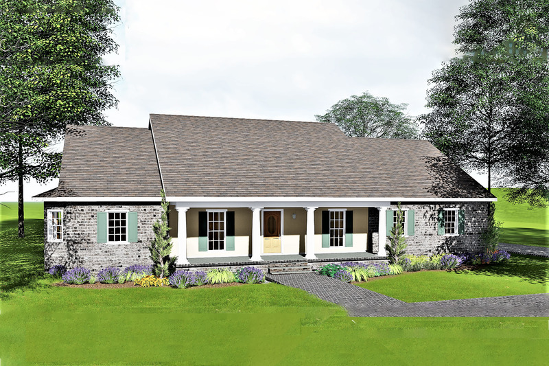 Traditional Exterior - Front Elevation Plan #44-122 - Houseplans.com