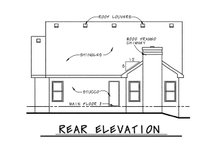 Home Plan Design - Country Exterior - Rear Elevation Plan #20-1211