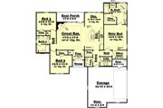 Traditional Style House Plan - 3 Beds 2.5 Baths 1800 Sq/Ft Plan #430-60 Floor Plan - Main Floor Plan
