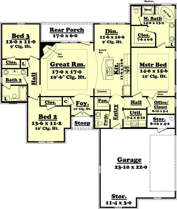 Traditional Floor Plan - Main Floor Plan Plan #430-60