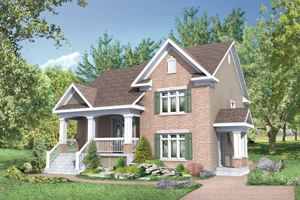 Country Exterior - Front Elevation Plan #25-4522