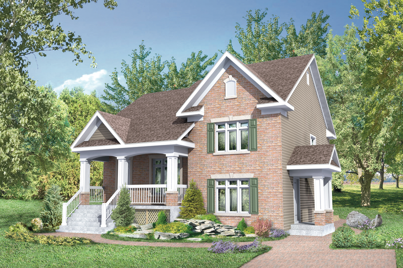 Country Style House Plan - 4 Beds 2 Baths 2060 Sq/Ft Plan #25-4522 Exterior - Front Elevation