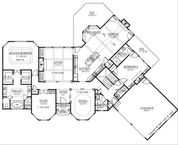Traditional Floor Plan - Main Floor Plan Plan #437-53