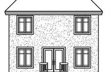House Plan Design - European Exterior - Rear Elevation Plan #23-732