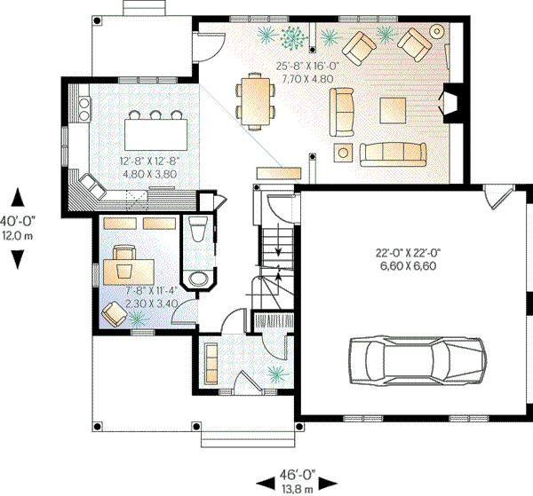 Country Floor Plan - Main Floor Plan Plan #23-336