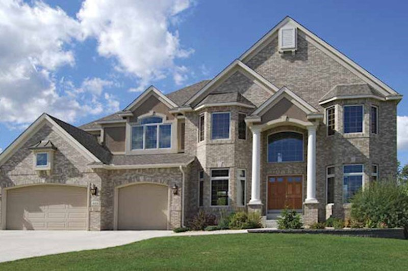 Dream House Plan - European Exterior - Front Elevation Plan #320-488